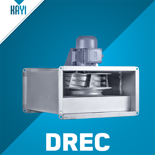 DREC - Centrifugal In-line Rectangular Duct Fan With Motor Out Of Air