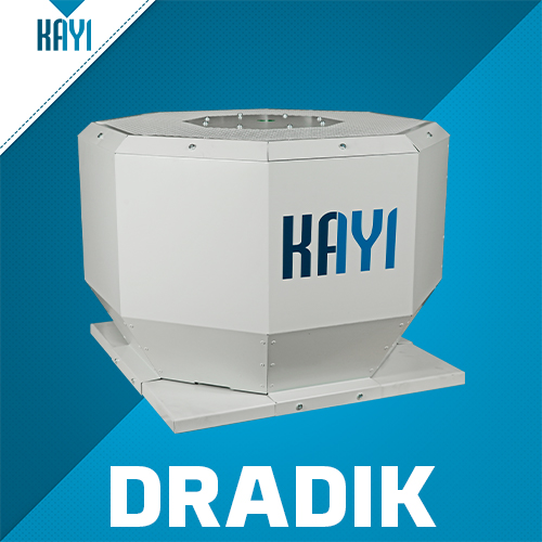 DRADIK - Horizontal Discharge Centrifugal Fan With Motor Out Of Air